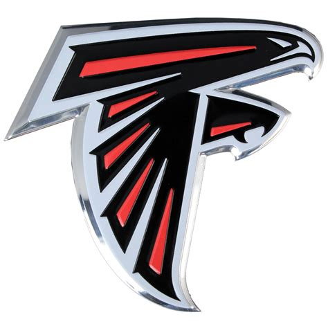 atlanta falcons colors atlanta falcons colored aluminum car auto emblem