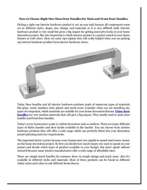 choose   glass door handles  main