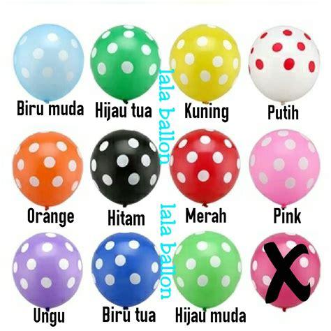 Balon Polkadot Bulat jual balon polkadot warna warni murah jef birthday collection