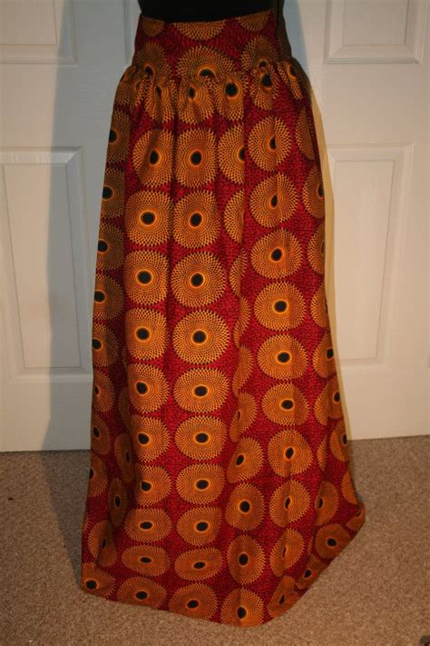pictures of skirt sown with ankara material african fabric ankara fabric long skirt by