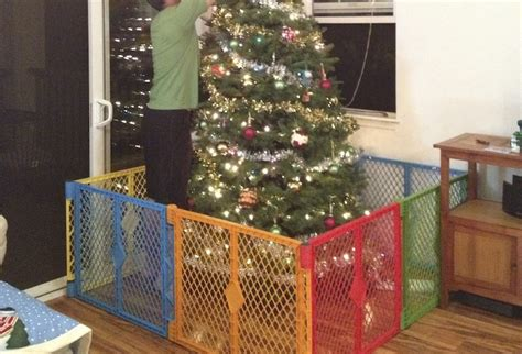 christmas tree gate toddler vs tree s swell