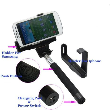 Wireless Mobile Phone Monopod Z07 5 kjstar z07 5 wireless mobile phone monopod bluetooth extendable with shutter release selfie for