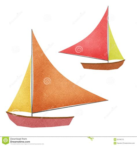 Boat From Paper - boat made from recycled paper stock photography image