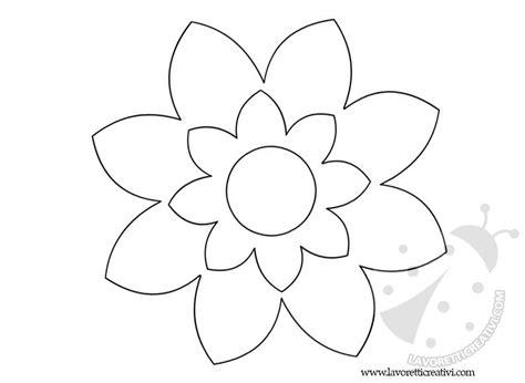 fiori da colorare sagome fiori