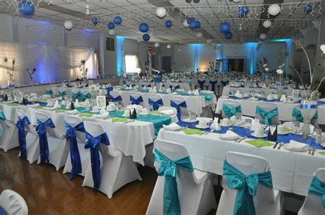 Turquoise And White Wedding Decorations July613
