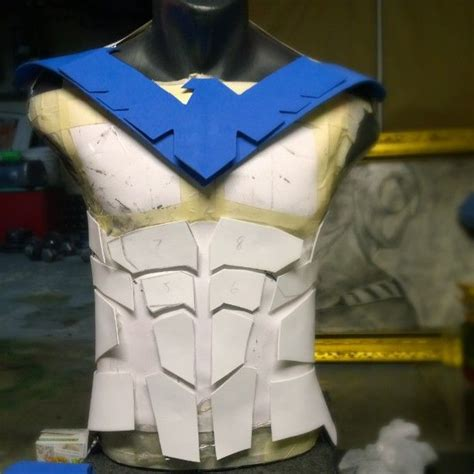 Lowonweb Opinions My New Nightwing Armor Used Foam To Make Templates Gonna Making Muscles Foam Armor Templates