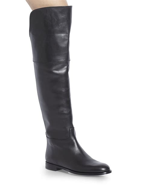 ralph leather boots ralph collection serisa leather overtheknee boots