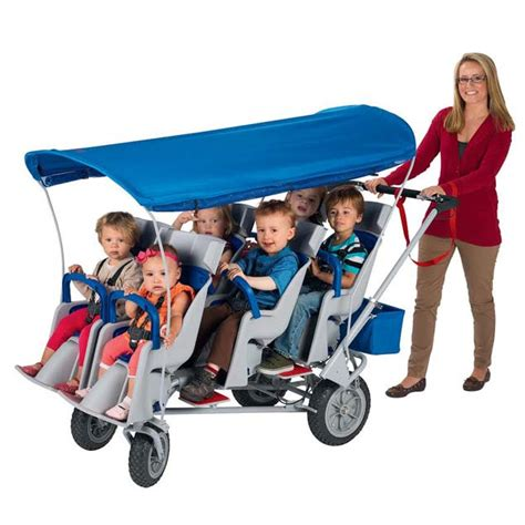 angeles runabout 6 seat commercial stroller afb6850