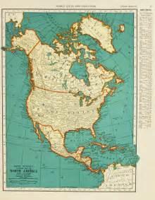 vintage map america united states original 1935