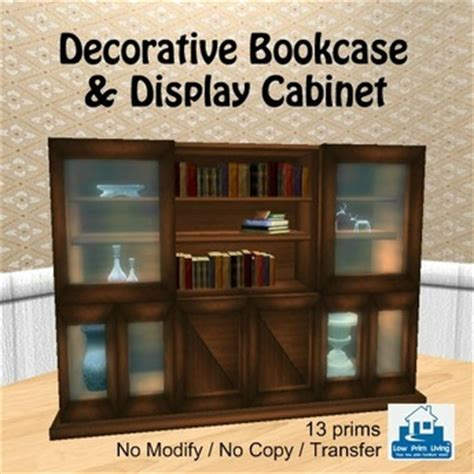 Decorative Bookcase Second Life Marketplace Decorative Bookcase Amp Display