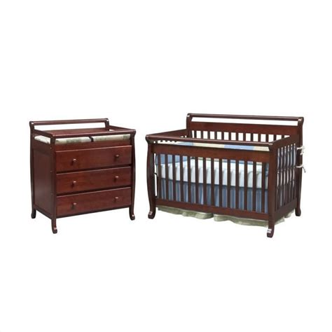 Baby Convertible Crib Sets Davinci Emily 4 In 1 Convertible Wood Baby Cherry Crib Set W Toddler Rail M4791c Cribset Pkg