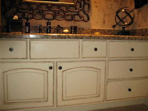 lagniappe designs distressed and inked cabinets