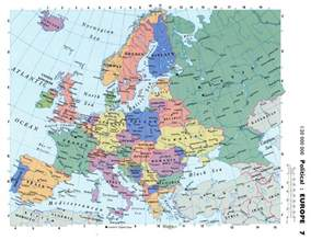 Detailed Map Of Europe by Maps Of Europe Map Of Europe In English Political