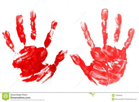 red hands red hands child printed stock image image of palm symbol