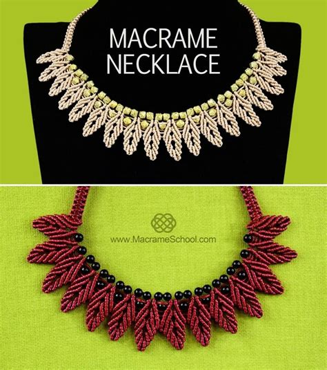 Macrame Chain - how to macrame petal chain necklace 171 jewelry wonderhowto
