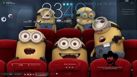 themes windows 10 minions minions rainmeter by chaos deus on deviantart