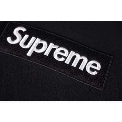 Jaket Distro Hoodie Supreme Logo Box Black supreme box logo classic pouch hoodie black