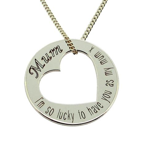 sterling silver personalised disc pendant
