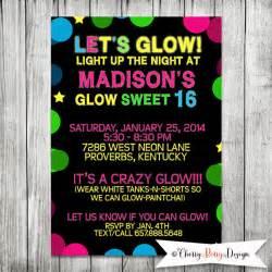 neon blacklight sweet 16 birthday 5x7 jpg