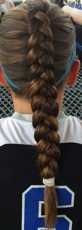 hairstyles for volleyball games beautiful dutch braid perfect for a volleyball game