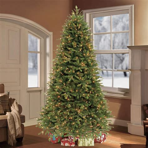 hudson valley trees artificial sterling 7 5 ft pre lit led cut monaco pine tree with micro lights 6363