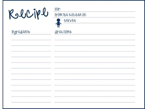recipe template printable 9 best images of blank printable recipe cards blank
