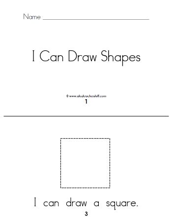 Shape Books Printable