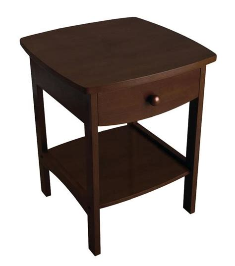 Curved Nightstand End Table Winsome Wood 94918 Curved End Table Stand With One Drawer Peazz