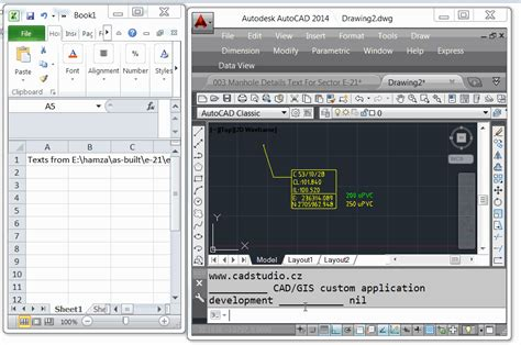 Autocad Tutorial With Exle | export texts to excel sheet autocad to excel cad to