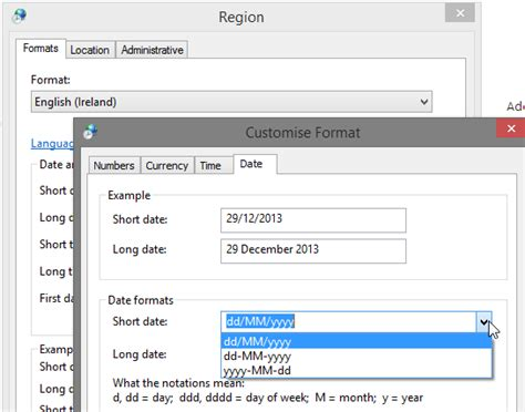 format excel language excel 2013 does not use the short date format i specified