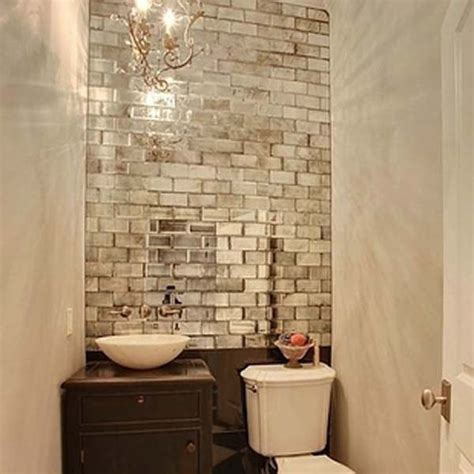 small windowless bathroom ideas add mirrored tiles to windowless rooms diy pinterest