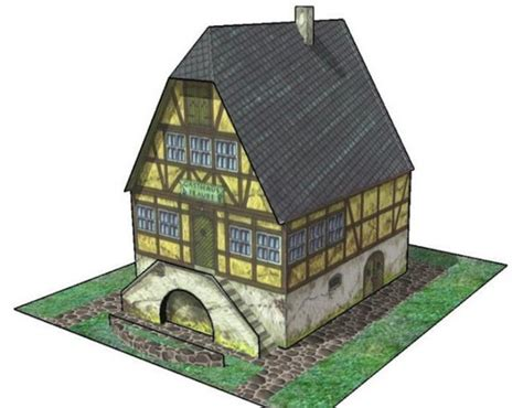 Paper Craft Building - new paper craft simple wine inn free building paper