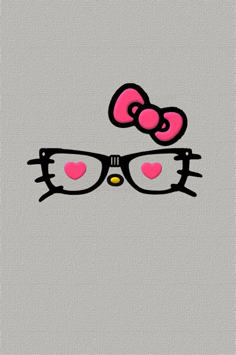 wallpaper hello kitty nerd droidsr4girls hello nerdy kitty face wallpapers