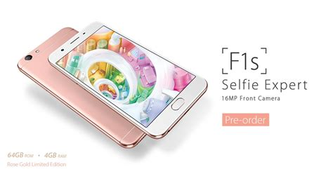 Oppo F1s Selfie Expert Ram 4gb 64gb Gold Garansi Resmi Oppo 1 Thn gadget blaze gold oppo f1s launched in india at rs 18 990