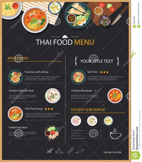 set of cafe and restaurant menu cover template vector 02 free download