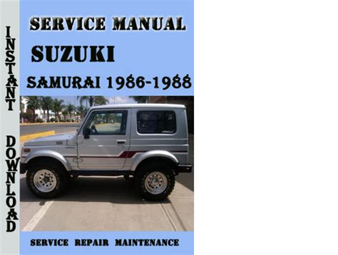 suzuki samurai 1986 1988 service repair manual pdf download downl