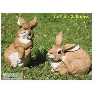 lapins en r 233 sine lot de 2 d 233 co de jardin riviera achat