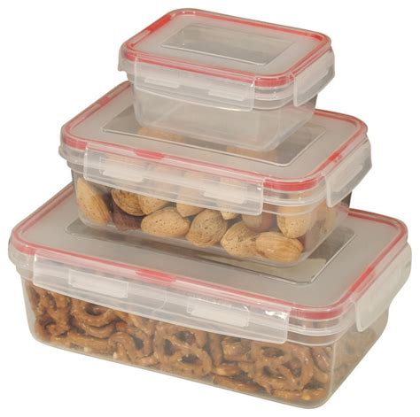 container for food storage food container 6 lock seal with square cover