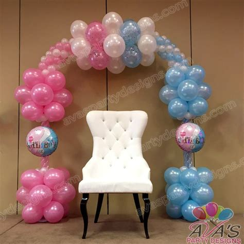Baby Shower Balloon Arch by 1000 Ideas About Gender Reveal Balloons On