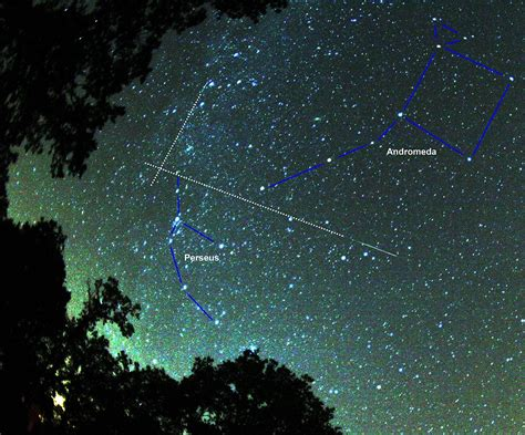 Perseus Meteor Shower by Perseid Meteor Shower Constellation Guide