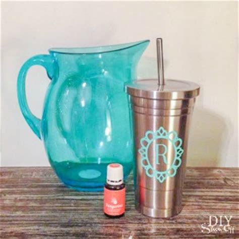 Decorate Tumbler Cups by Vinyl Decal Tutorial For Stainless Steel Tumbler For Essential Oils Diy Show Diy