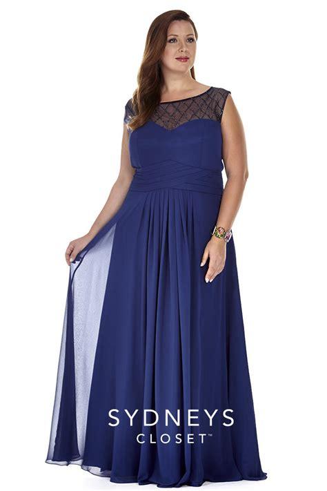 sydneys closet sc4050 plus size gown with illusion