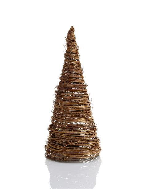 led light up rattan effect cone tree christmas room