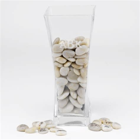 Vase With Stones by Signature Stones And Vase Invitations By