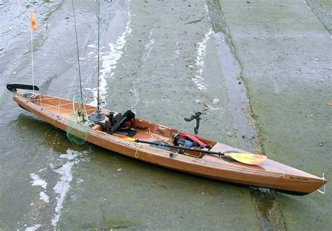 bait boat self build kit built wooden kayak for fishing love it kayaking