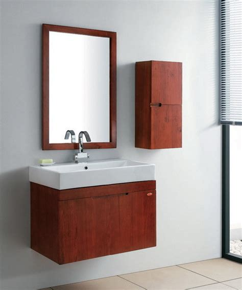 China Red Solid Wood Bathroom Vanity Unit Set Gbw009 Solid Wood Vanity Units For Bathrooms