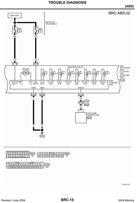 2004 nissan maxima wiring diagram i am in need of an abs wiring schematic for a 2004 nissan