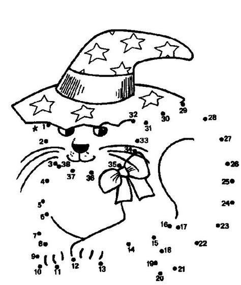 halloween coloring pages math halloween cat dot to dot with lots more pictures kid