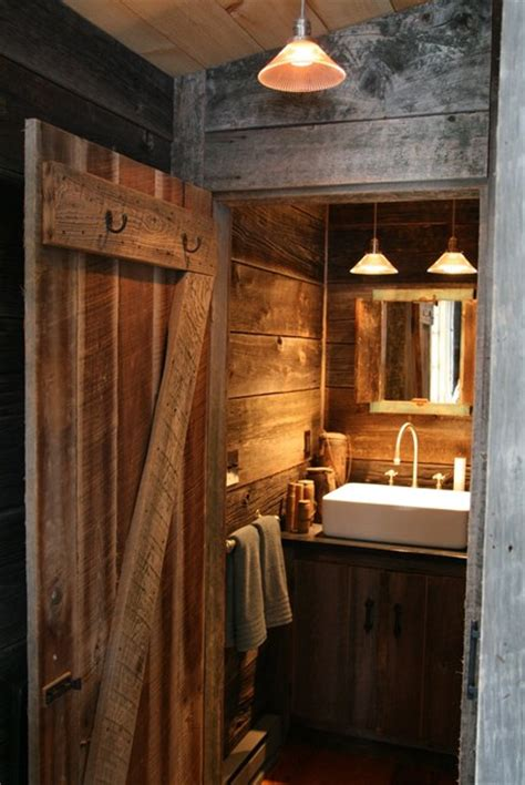 rustic cabin bathroom rustic bathroom  york