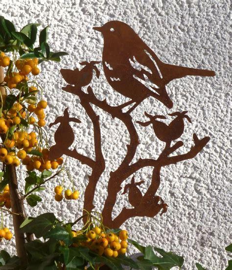 Rostige Nägel by Vogel Kleiner Topfstecker Hagebuttenast